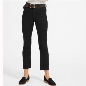 EVERLANE Kick crop jeans with raw hem in Black
